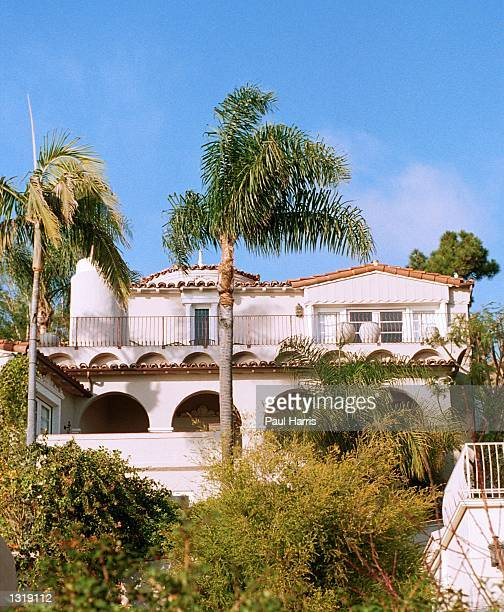 Palm trees surround U2 guitarist The Edge''s new mansion December 14 2000 in Malibu CA The $2 million 1930''s home has 4 bedrooms with a Pacific...