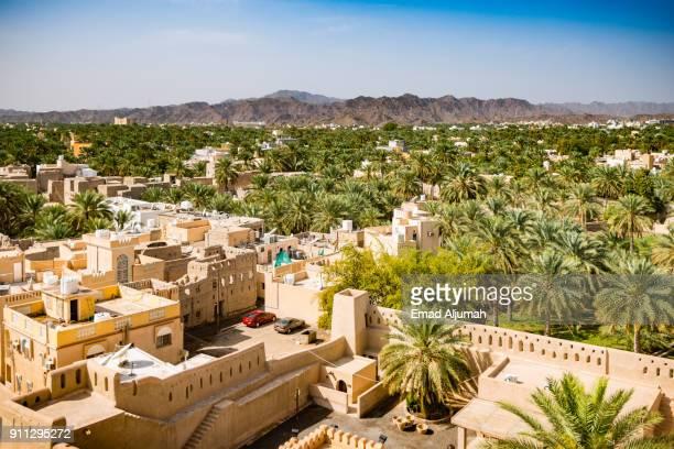 Palm trees surrounding Nizwa, Oman - February 28, 2016