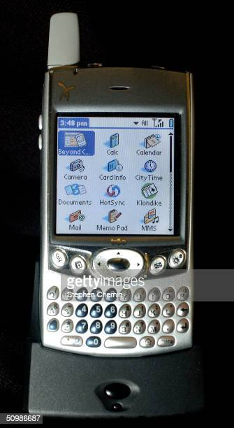 Palm Treo 600 smartphone is seen June 22 2004 PalmOne Inc reported a profitable fourth quarter with revenue of $2673 million an increase of 23% from...