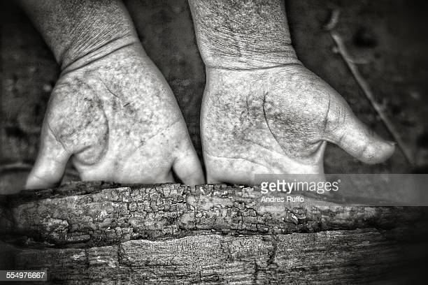 palm wrinkles - andres ruffo stock pictures, royalty-free photos & images