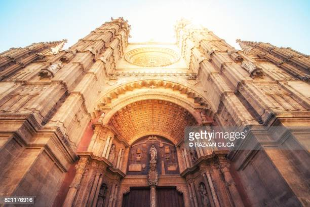 palma cathedral - palma majorca stock photos and pictures