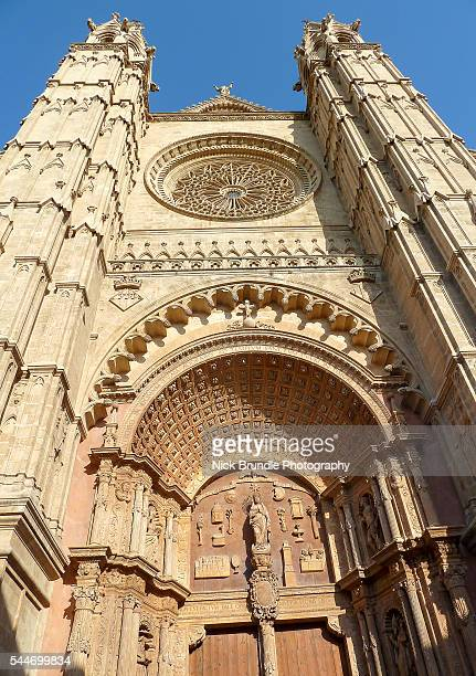 palma de mallorca cathedral, majorca - palma majorca stock photos and pictures