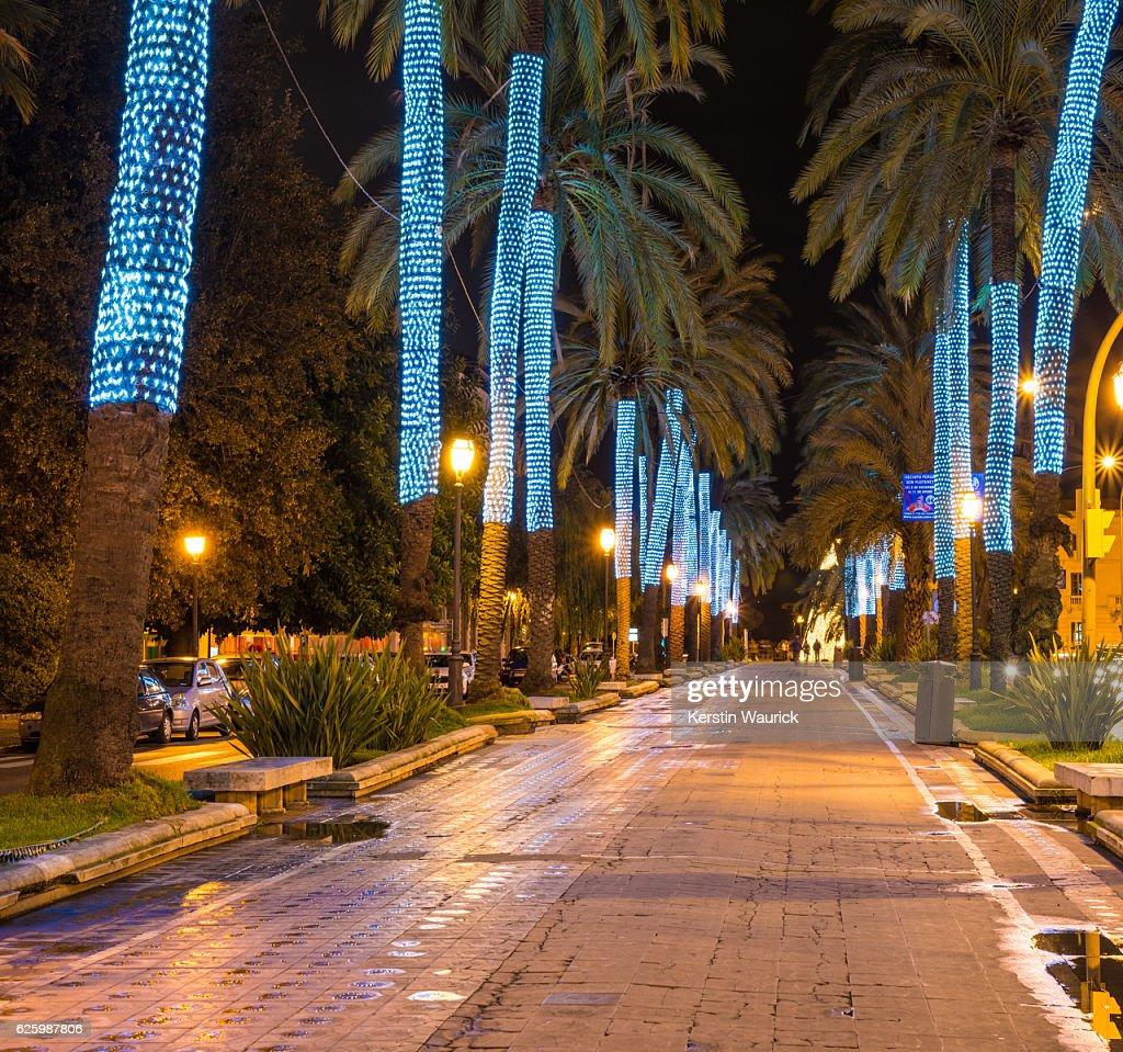 Palma de mallorca spain decoration at christmas time stock - Muebles baratos palma de mallorca ...