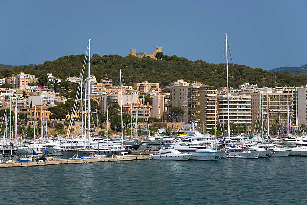 Palma Harbour Bellver Castle Of Majorca The Largest Island Of