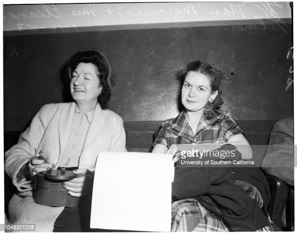 Palmer bigamy, 15 January 1953. Nan Mercier;Mrs Eleanor Palmer.Los Angeles, CaliforniaBigamy.