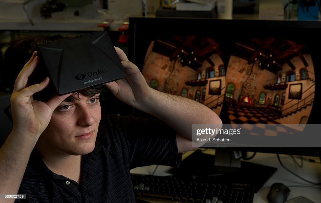 Palmer Luckey founder, shown at his Irvine office, Oculus