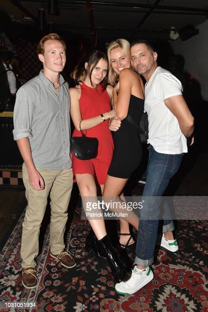 Palmer Taipale Masha Osorio guest and John James attend the Nicole Miller Spring 2019 After Party at Acme on September 6 2018 in New York City