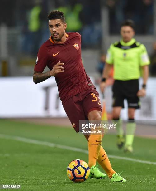 Palmieri Dos Santos Emerson of AS Roma in action during the TIM Cup match between SS Lazio and AS Roma at Olimpico Stadium on March 1 2017 in Rome...