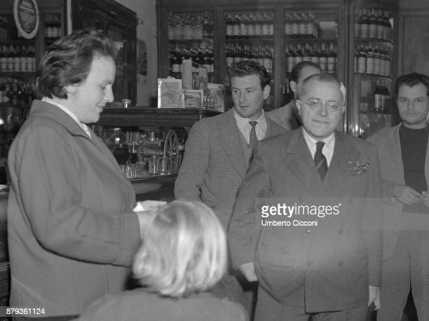 Palmiro Togliatti with Nilde Iotti in a bar Rome 1948