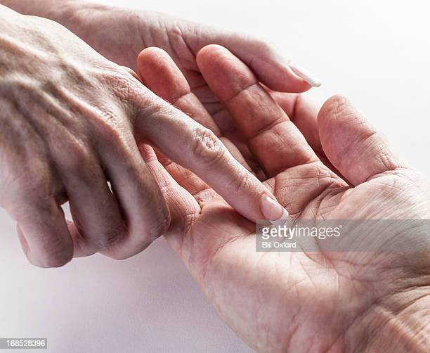 palmistry - fate stock photos and pictures