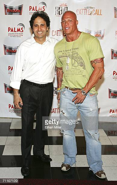 Palms Casino Resort President George Maloof and President and CEO of the Brenden Theater Corporation Johnny Brenden arrive at the world premiere of...