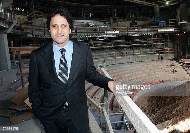 Palms Casino Resort President George Maloof poses as he gives a tour of The Pearl concert theater under construction at the Palms November 15 2006 in...