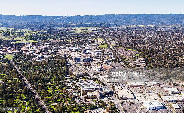 palo alto and santa cruz mountains - palo alto stock pictures, royalty-free photos & images