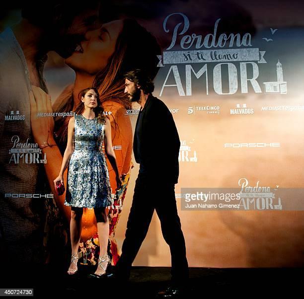 Paloma Bloyd and Daniele Liotti attend 'Perdona Si Te Llamo Amor' premiere at Cines Cinesa Mendez Alvaro on June 16 2014 in Madrid Spain
