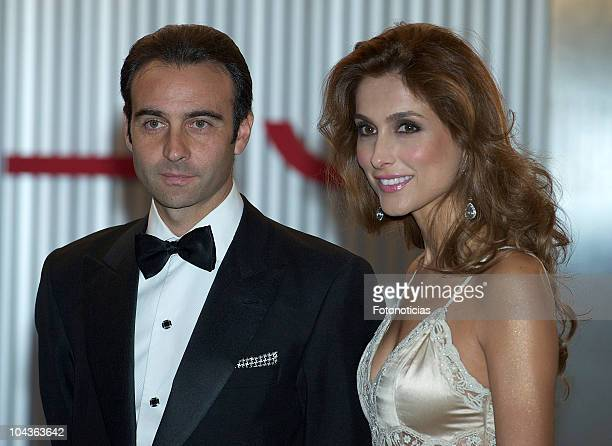 Paloma Cuevas and Enrique Ponce attend a gala dinner in honour of the winners of 'Mariano de Cavia', 'Luca de Tena' and Mingote' awards at the ABC...