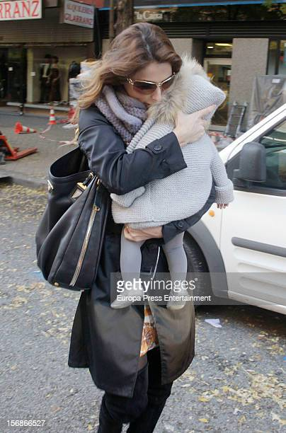 Paloma Cuevas and her daugther Bianca Ponce are seen on November 22 2012 in Madrid Spain