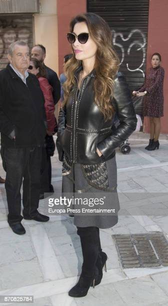 Paloma Cuevas attends Antonio Banderas's mother's funeral service on November 5 2017 in Malaga Spain