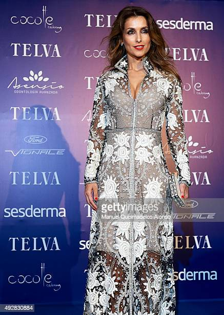 Paloma Cuevas attends Arts Sciences and Sports Telva Awards 2015 at Palau de Les Arts Reina Sofia on October 15 2015 in Valencia Spain