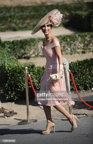 Paloma Cuevas attends the wedding of Luis Medina and Laura Vecino on October 16 2010 in Toledo Spain