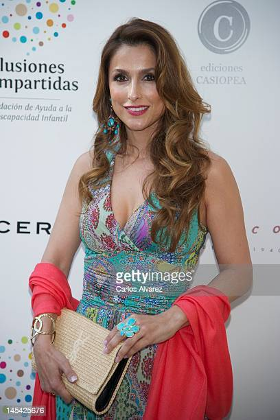 Paloma Cuevas attends 'Un Momento En Mi Vida' book presentation at 'Casa Monico' restaurant on May 29 2012 in Madrid Spain