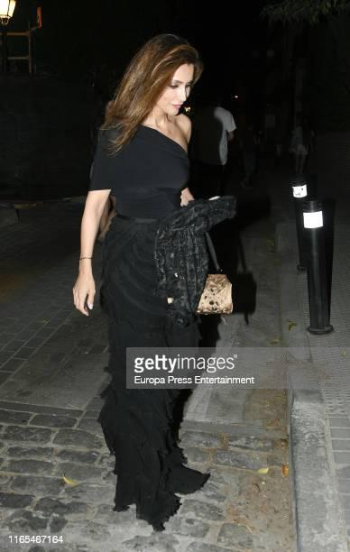 Paloma Cuevas is seen on July 19, 2019 in Madrid, Spain on July 19, 2019 in Madrid, Spain.