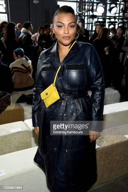 Paloma Elesser attends the Coach 1941 fashion show during February 2020 - New York Fashion Week on February 11, 2020 in New York City.