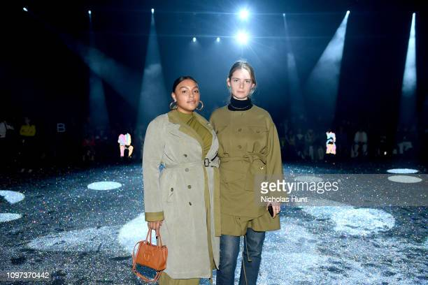 Paloma Elsesser and Camilla Deterre attend the Sies Marjan FW'19 Runway Show at SIR Stage on February 10 2019 in New York City