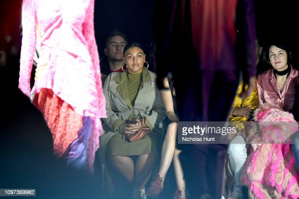 Paloma Elsesser and Elizabeth Peyton attend the Sies Marjan FW'19 Runway Show at SIR Stage on February 10 2019 in New York City