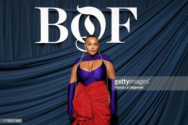 Paloma Elsesser attends the #BoF500 gala during Paris Fashion Week Spring/Summer 2020 at Hotel de Ville on September 30, 2019 in Paris, France.