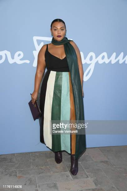 Paloma Elsesser attends the Salvatore Ferragamo show during Milan Fashion Week Spring/Summer 2020 on September 21, 2019 in Milan, Italy.