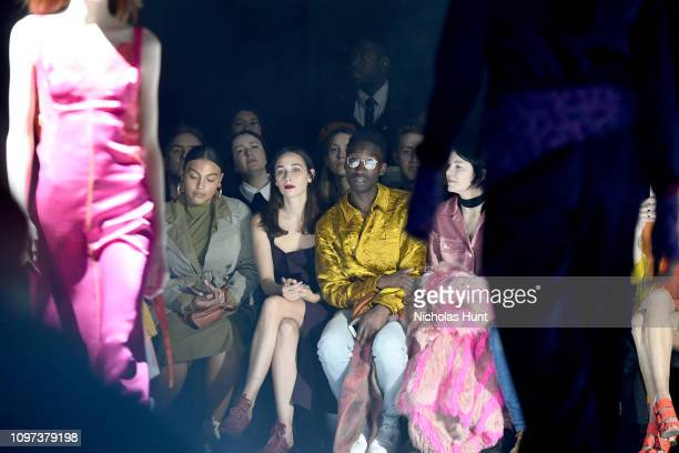 Paloma Elsesser Rebecca Dayan Nathan Stewart Jarrett and Elizabeth Peyton attend the Sies Marjan FW'19 Runway Show at SIR Stage on February 10 2019...