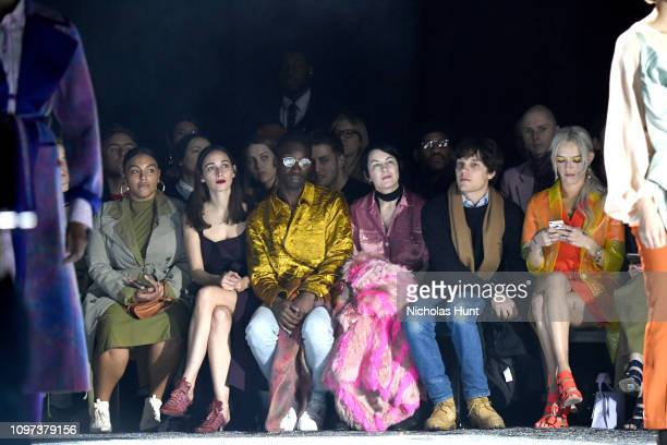Paloma Elsesser Rebecca Dayan Nathan Stewart Jarrett Elizabeth Peyton Theo Wenner and Bria Vinaite attend the Sies Marjan FW'19 Runway Show at SIR...