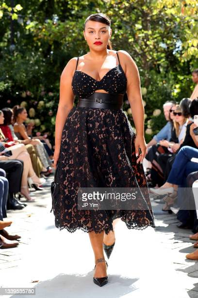 Paloma Elsesser walks the runway during the SP22 Michael Kors Collection Runway Show on September 10, 2021 in New York City.