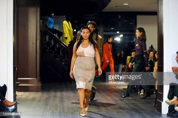 Paloma Elsesser walks the runway for the Eckhaus Latta fashion show during February 2020 - New York Fashion Week: The Shows on February 11, 2020 in...