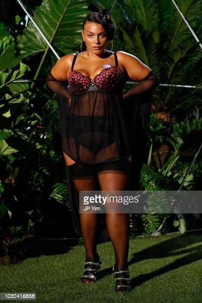 Paloma Elsesser walks the runway for the Savage X Fenty Fall/Winter 2018 fashion show during NYFW at the Brooklyn Navy Yard on September 12, 2018 in...