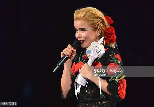 Paloma Faith accepts her Best Female Solo Award at the BRIT Awards 2015 at The O2 Arena on February 25 2015 in London England