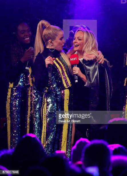 Paloma Faith and Emma Bunton attend the Regent Street Christmas Lights switch on event with Heart FM on November 16 2017 in London England