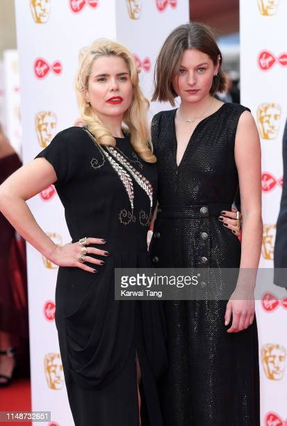 Paloma Faith and Emma Corin attend the Virgin Media British Academy Television Awards 2019 at The Royal Festival Hall on May 12 2019 in London England