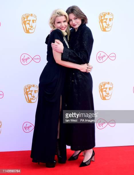 Paloma Faith and Emma Corrin attending the Virgin Media BAFTA TV awards held at the Royal Festival Hall in London
