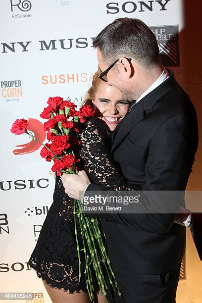 Paloma Faith and Jason Iley attend the Sony after party for the BRIT Awards 2015 at Sushi Samba on February 25 2015 in London England