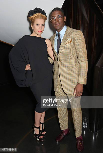 Paloma Faith and Labrinth attend a cocktail reception celebrating the Tom Ford Spring/Summer 2016 collection during London Collections Men at the Tom...