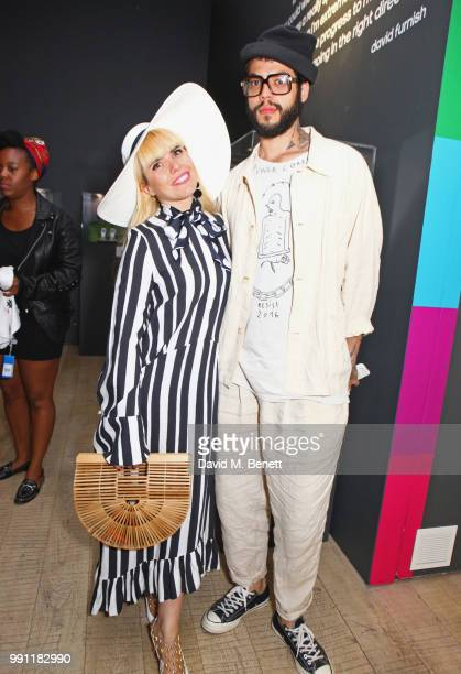 Paloma Faith and Leyman Lahcine attend adidas 'Prouder' A Fat Tony Project in aid of the Albert Kennedy Trust supporting LGBT youth at Heni Gallery...