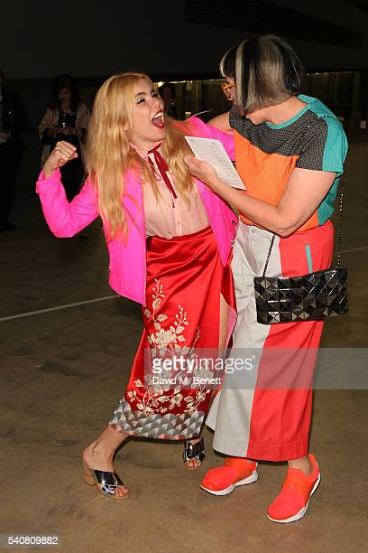 Paloma Faith and Philippa Perry attend the launch of the Tate Modern extension on June 16 2016 in London England