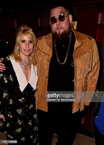 Paloma Faith and Rag'n'Bone Man attend the Sony BRITs after-party at The Standard on February 18, 2020 in London, England.