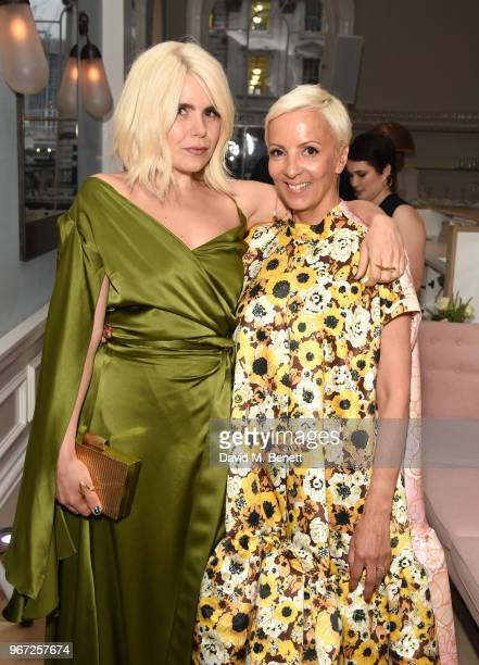 Paloma Faith and to AnneMarie Curtis attend THE ELLE LIST 2018 in association with THEOUTNETCOM at Spring at Somerset House on June 4 2018 in London...