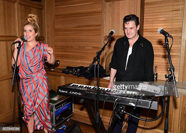 Paloma Faith and Zimon Drake attend 'Ladies Who Punch An Evening Of New River Poetry' hosted by Greta Bellamacina with Semaine at The London Edition...