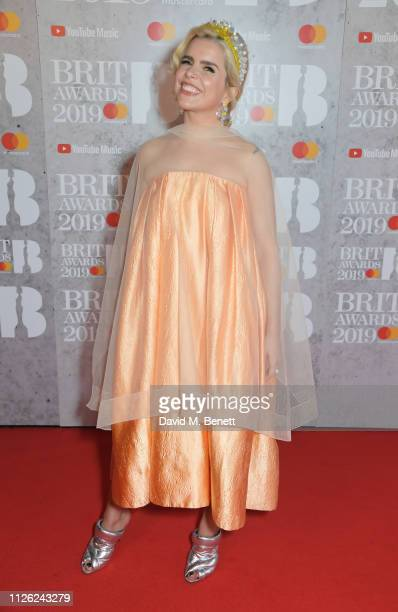 Paloma Faith arrives at The BRIT Awards 2019 held at The O2 Arena on February 20, 2019 in London, England.