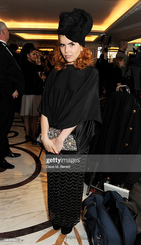 Paloma Faith attends a drinks reception at the Amy Winehouse Foundation Ball held at The Dorchester on November 20, 2012 in London, England.