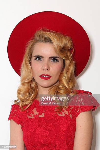 Paloma Faith attends a private view of works by master sculptor Igor Mitoraj to launch Contini Art UK a new gallery opening on New Bond Street on May...
