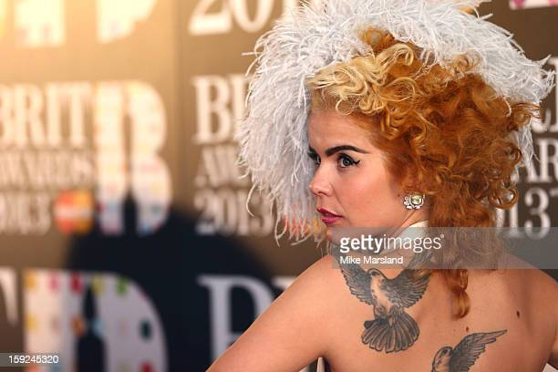 Paloma Faith attends as the nominations for the BRIT Awards are announced at The Savoy Hotel on January 10 2013 in London England